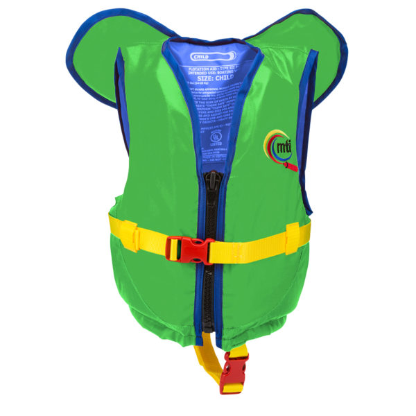 Child with Collar_Green-Blue_Front
