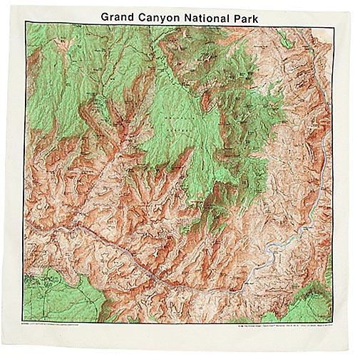 Topographic Map Grand Canyon.Grand Canyon National Park Topo Map Bandana Santa S Christmas Bag