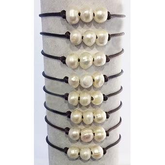 2019 Large Tri Pearl Bracelets