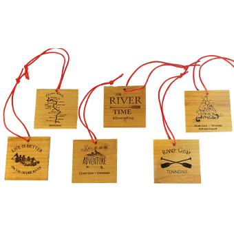 custom laser engraved square wooden ornaments santa s christmas
