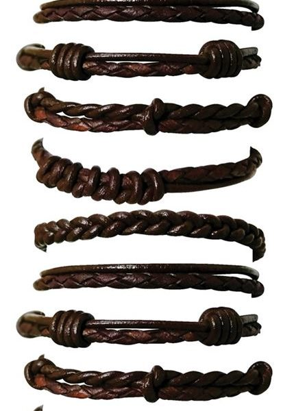 BR135- Braid-Knot-Leather